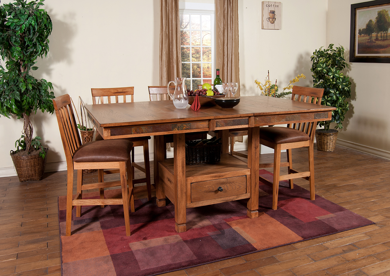 Sedona Butterfly Dining Table Slate Chairs Sunny Designs