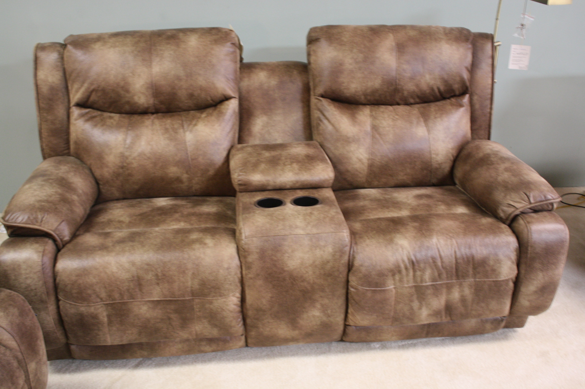 875 Southern Motion Velocity Double Reclining Power Sofa Loveseat